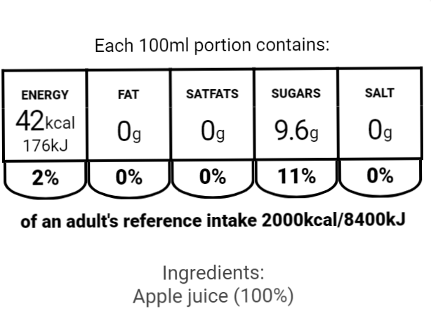 EU Nutritional Apple Juice 500