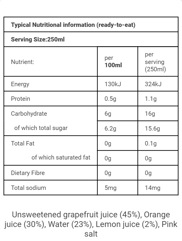 SA Nutritional GLOW 250