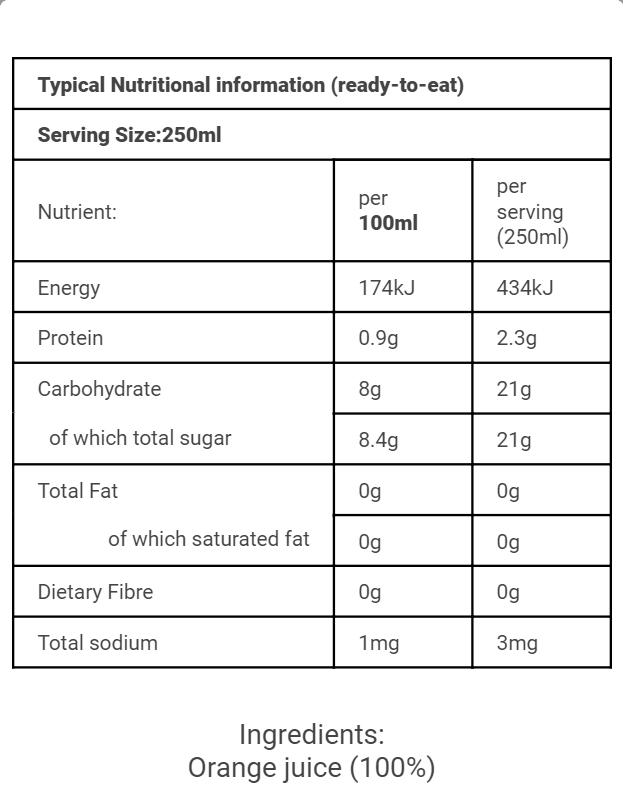 SA Nutritional OJ